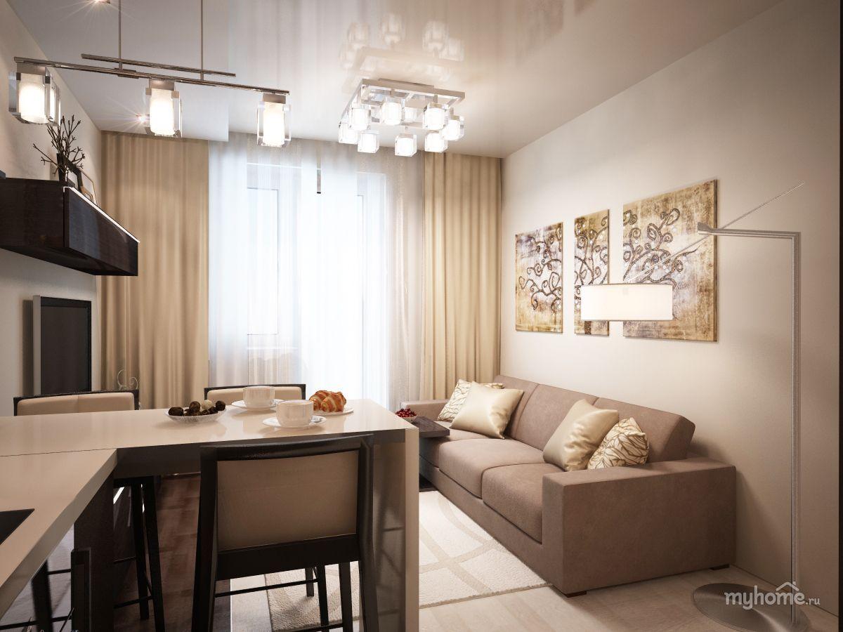Интерьер гостиной размером 17 кв м - эксклюзивно на ...