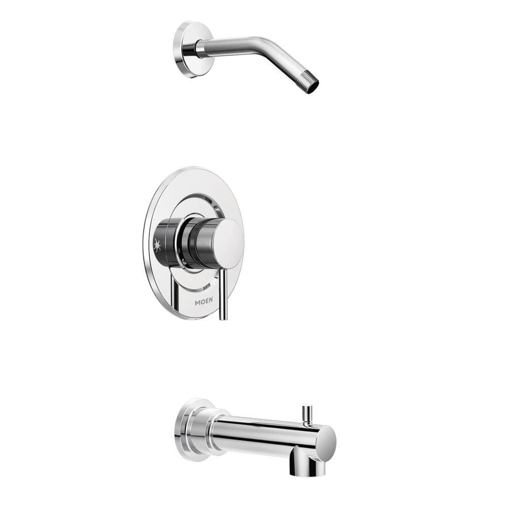Moen Align Trol 1 Handle Tub And Shower Faucet Trim Kit In Chrome Valve And Shower Head Not Included Grey Shower Faucet Sets Tub Shower Faucets Shower Tub