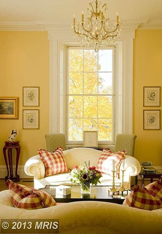 Tour An Historic Equestrian Estate In Virginia  White Furniture Awesome Yellow Living Rooms Design Ideas
