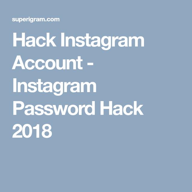 Hack Instagram Account - Instagram Password Hack 2018