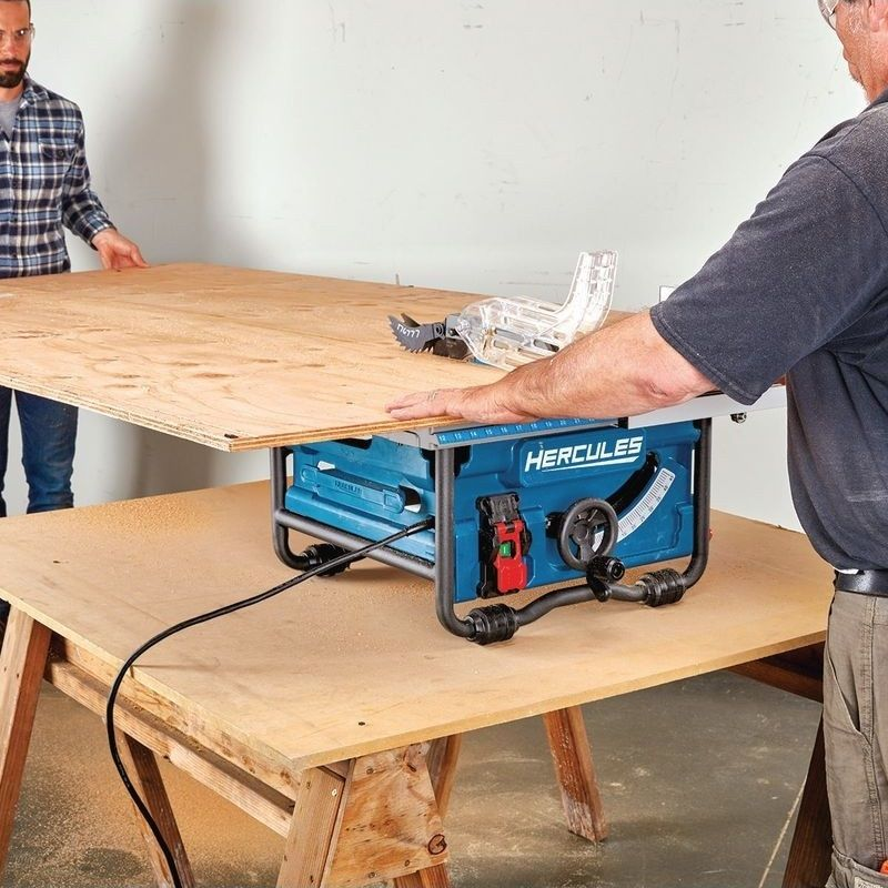 The Hercules 15 Amp Compact Job Site Table Saw Delivers 4800 Rpm And Powers Through The Most Demandin Harbor Freight Tools Sliding Compound Miter Saw Table Saw