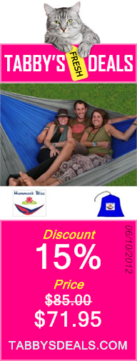 """Hammock Bliss Triple - The Largest Portable Hammock on Planet Earth - The Best Hammock for Couples, Great for Tall People, Ideal for Families - 100"""" Rope Per Side Included $71.95"""