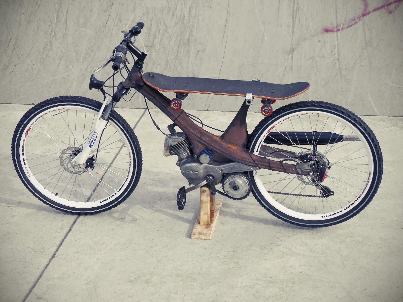 Custom Moped Skate Bike Grease N Gasoline Custom Moped Custom