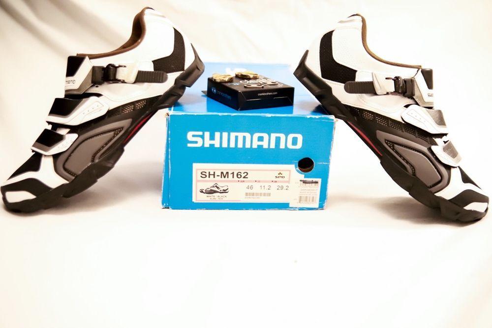 b248faa37f1 Shimano SH-M162 Mountain Bike Shoes w  Crank Brothers Cleats Size US 11.2 EU  46  Shimano  Mountain