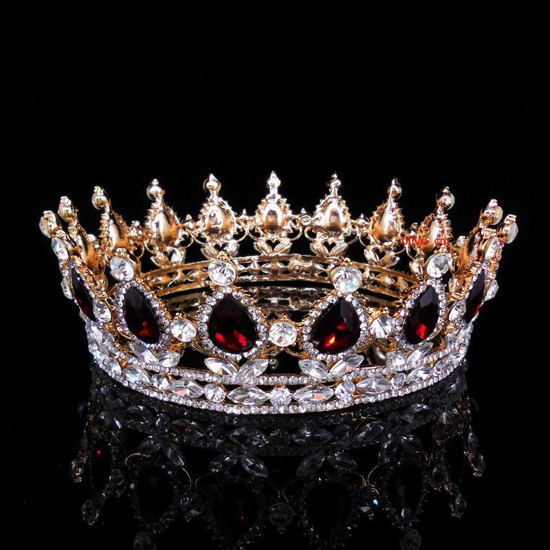 7cm High Sparkling Full Crystal Silver King Crown Wedding Prom Party Pageant