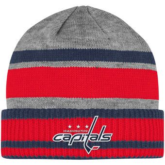 0d90cbaf Men's Washington Capitals adidas Gray Team Logo Cuffed Knit Hat ...