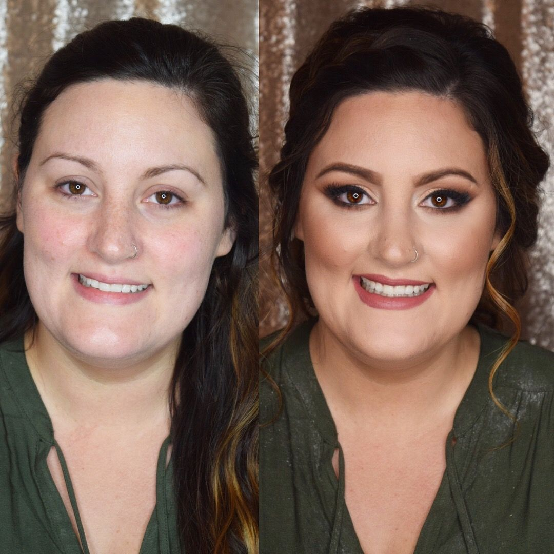 Before And After Pittsburgh Makeup Artist And Hair Stylist Bridesmaid Makeup Natural Wedding Makeup Looks Bridesmaid Makeup