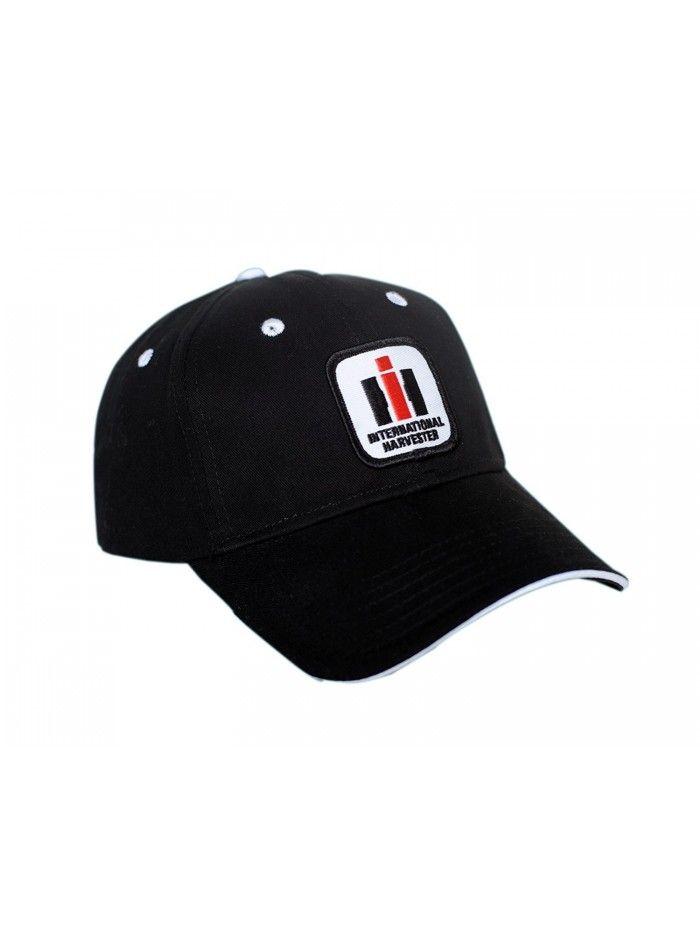 50c153f6 International Harvester IH Logo Hat- black with white accents - CX12CDF8XQT  - Hats & Caps