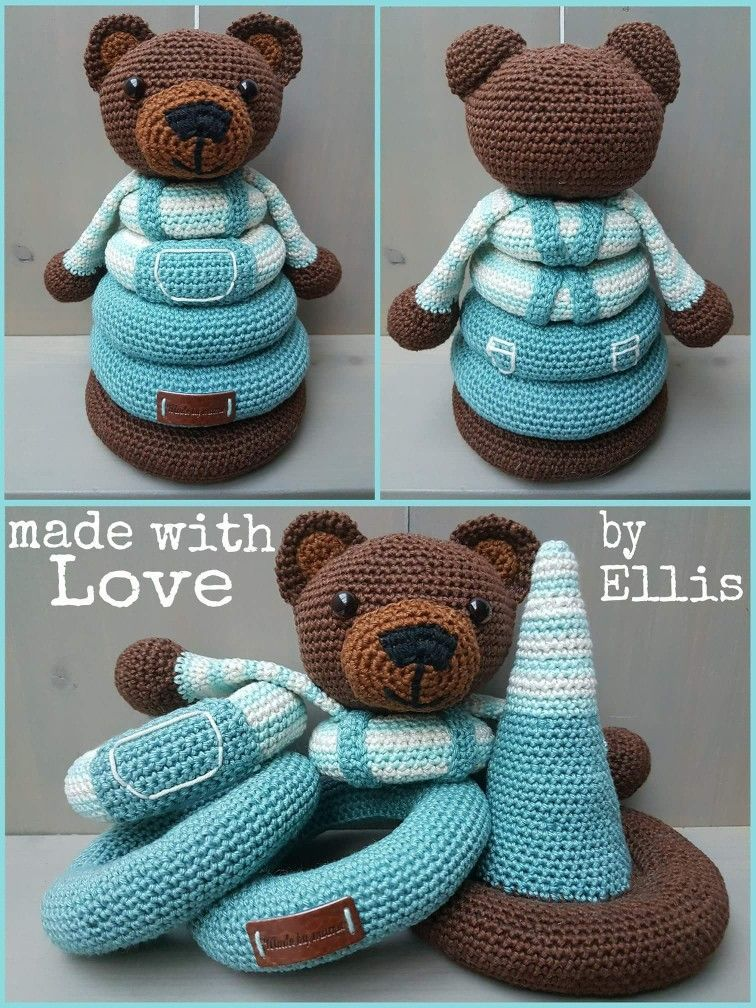 """Crochet cone game teddy bear """"Love this idea for a stack ..."""