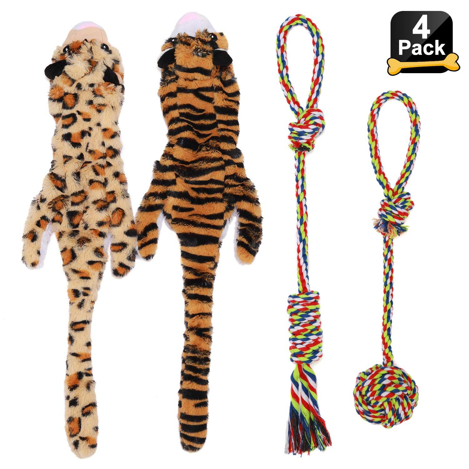 Dog Toys Pack Dog Chew Toys For Aggressive Chewers Stuffingless