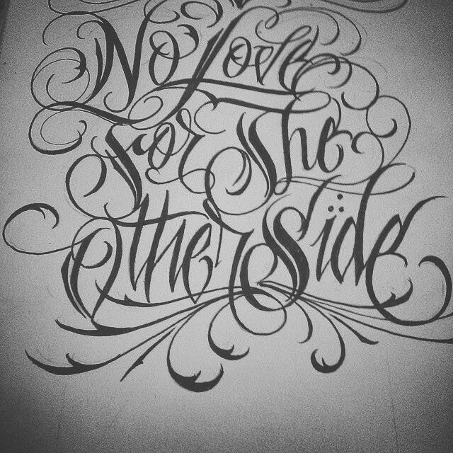Tattoo Quotes Gangster: Chicano Lettering, Tattoo Fonts