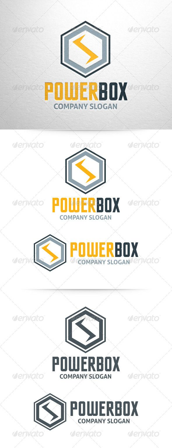 hight resolution of power box logo template graphicriver