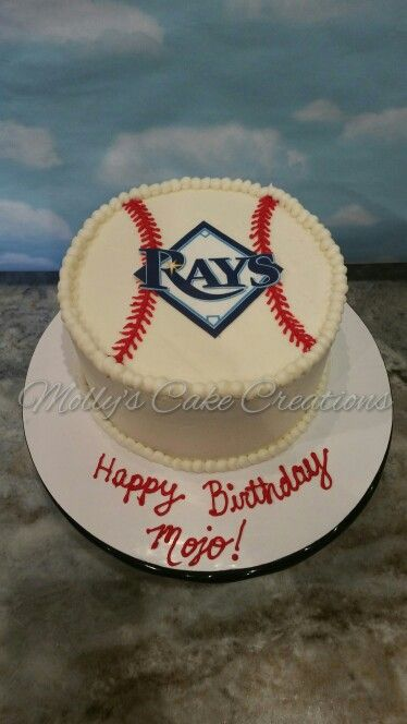 Tampa Bay Rays Baseball Cake Birthday Party Parties Sport Cakes Baby