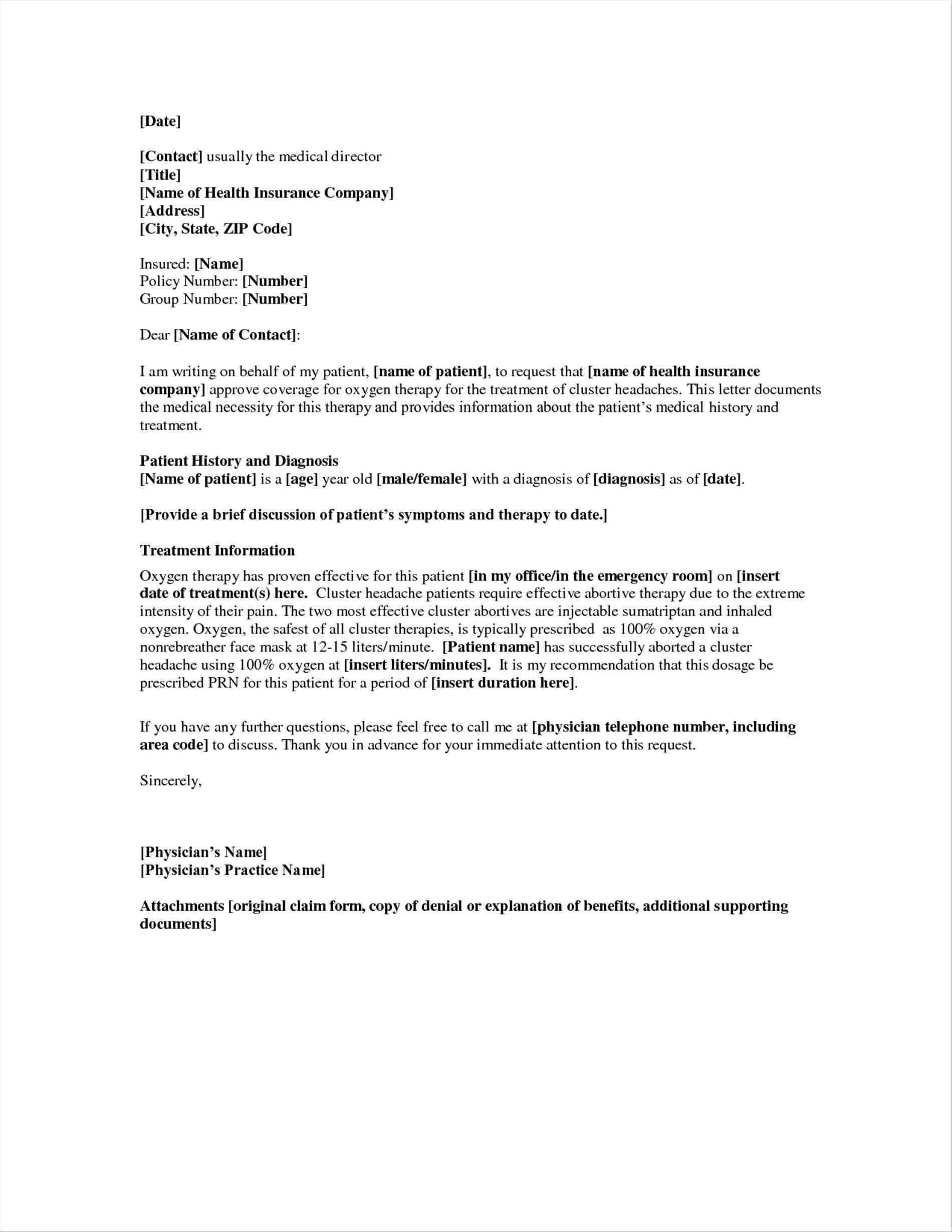 Letter Of Medical Necessity Template Letter templates