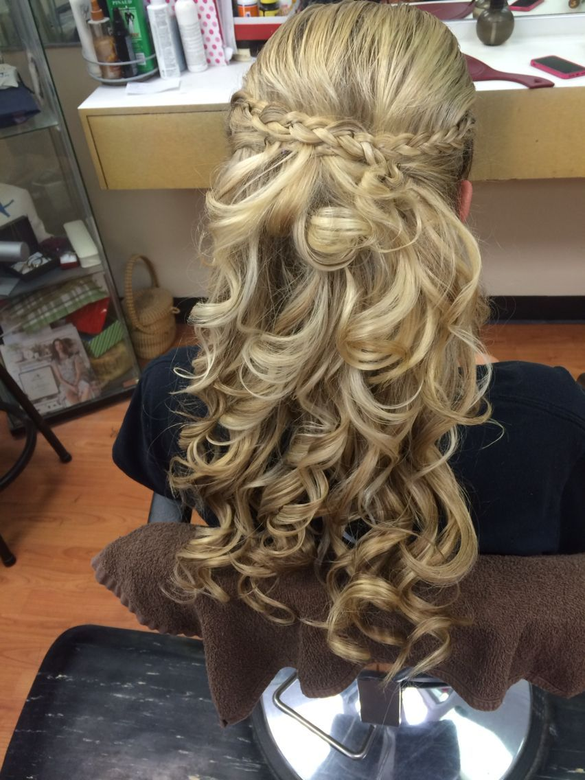Prom hair half up half down   Formal hairstyles for short ...