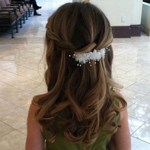 Communion Hairstyles Half Up Half Down | 17st Communion | Pinterest ...