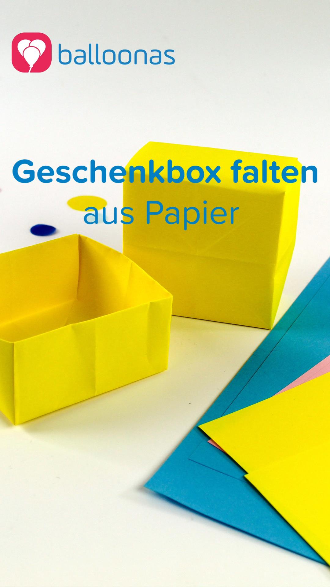 Geschenkbox aus Papier basteln | Anleitung für Kinder