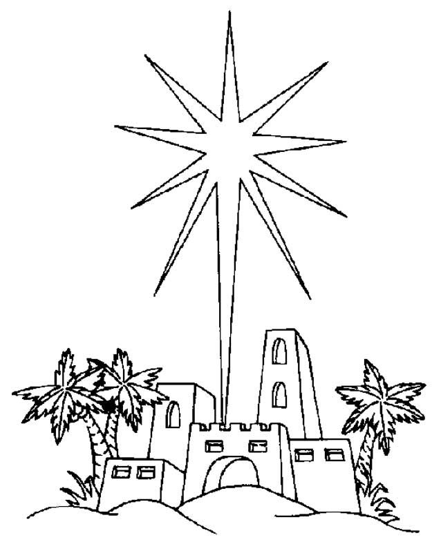 De Ster Van Bethlehem Kerst Kleurplaten Pinterest Kerst
