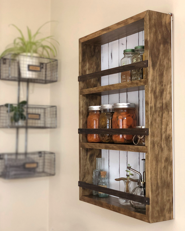 Woodworking Plans For Kitchen Spice Rack: The Mansfield Spice Rack No. 104