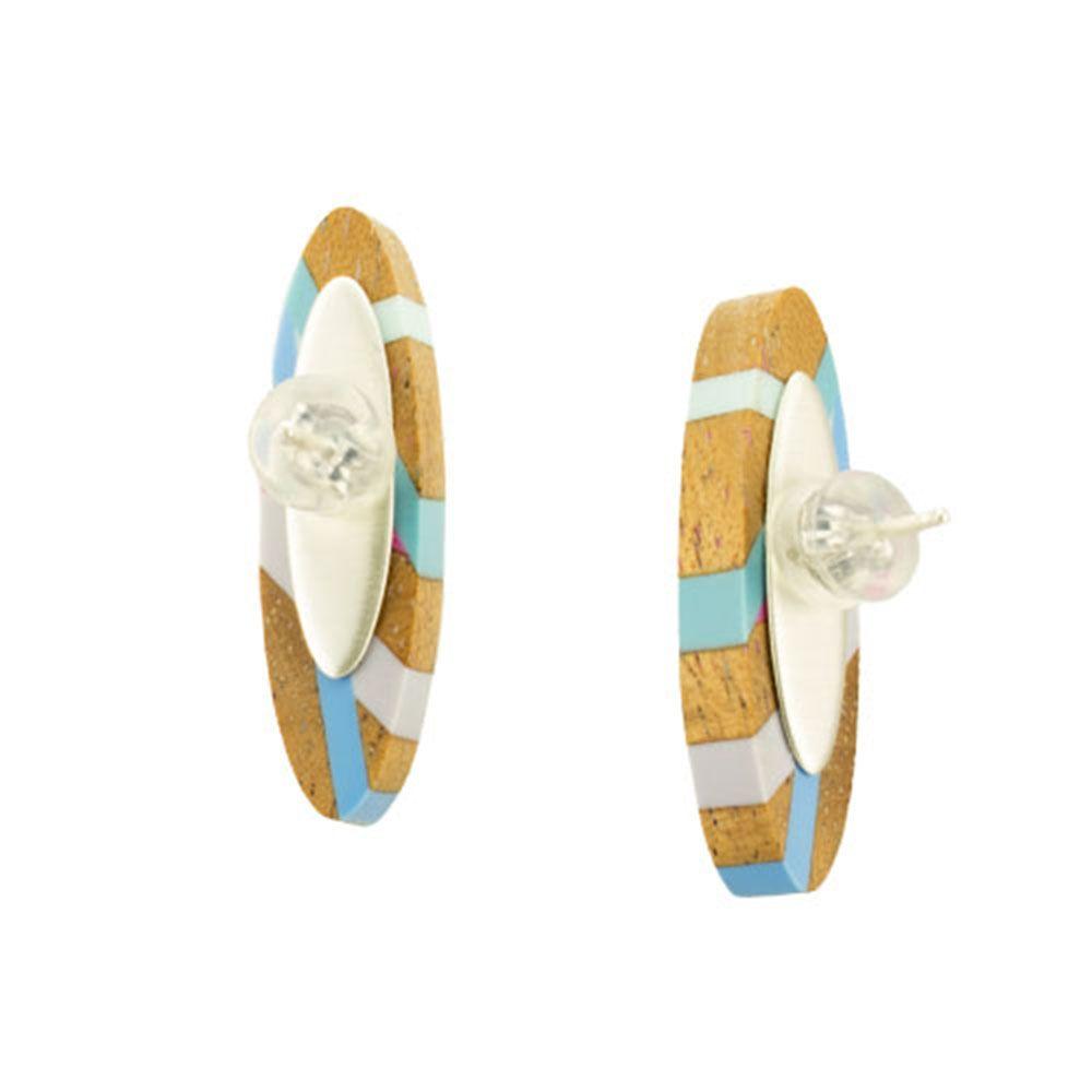 From IAMTHELAB.com: Aqua Post Earrings   #Earrings