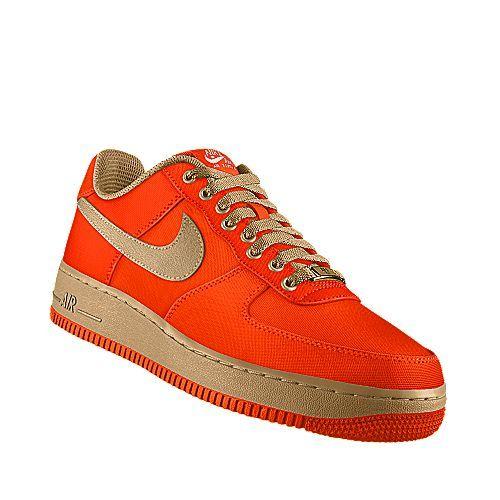herren nike air force 1 low(niedrig) weiß gesamt orangen