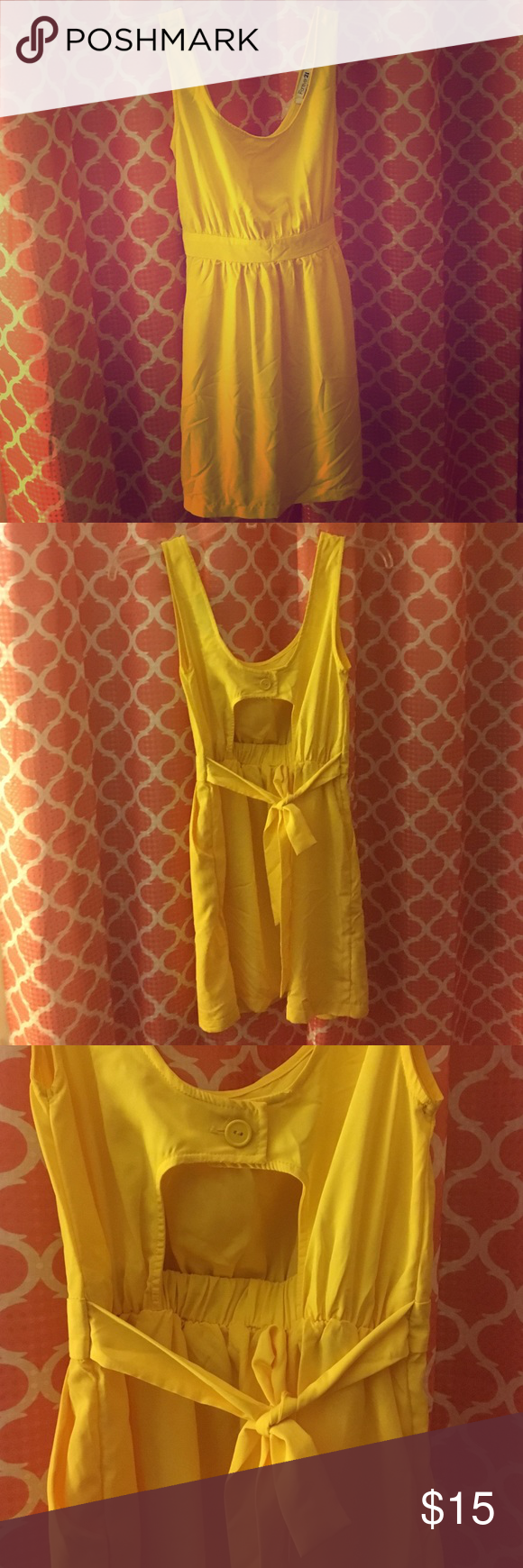 Forever small yellow cocktail dress forever small yellow