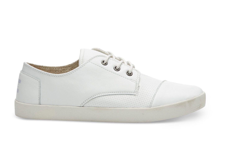 White Full Grain Leather Men's Paseos