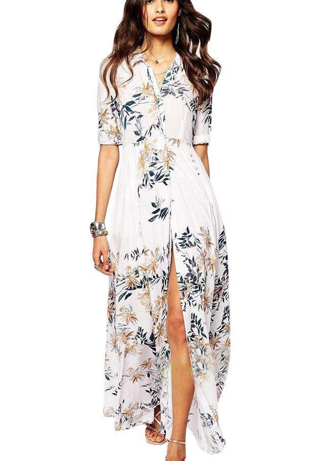 robes de plages longues blanche chemise fleurie robe de plage longue robe de plage et fleuri. Black Bedroom Furniture Sets. Home Design Ideas