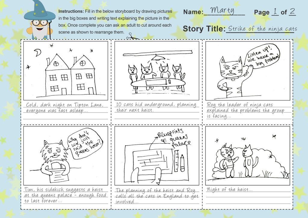 Free Storyboard Template For Kids To Help With StoryWriting