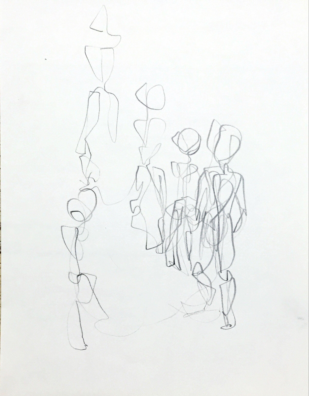 걸어다니는사람_색연필.