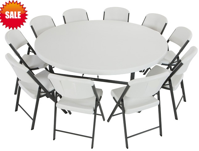 Round Folding Table And Chairs From Meeting To Interview Table