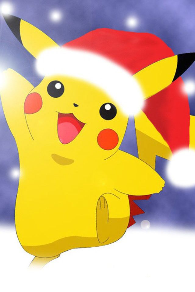 Another One Of Pikachu In The Santa Hat Anime Christmas Pikachu Wallpaper Christmas Pokemon