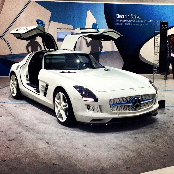 A Little White Lightning. #SLS #AMG #electric