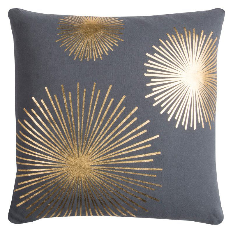 Rizzy Home Rachel Kate Starburst Decorative Pillow GreyGold Fascinating Grey And Gold Decorative Pillows