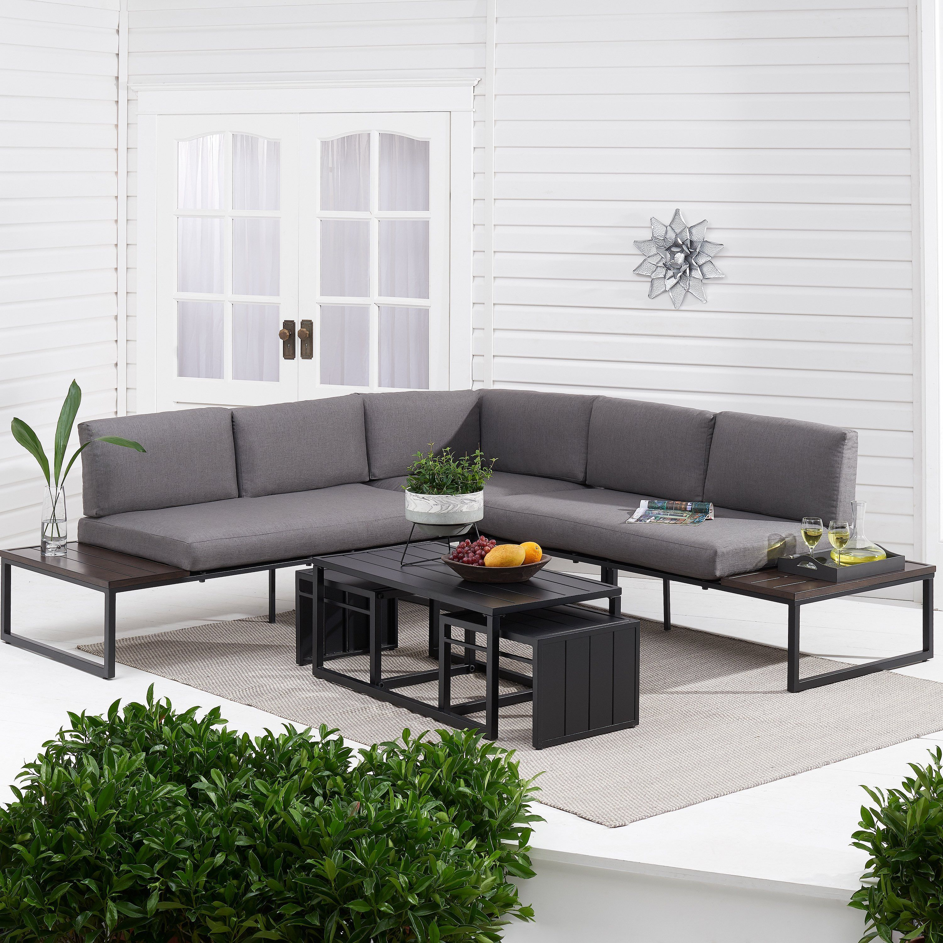 Kolton 3-Piece Outdoor Patio Sectional Set #outdoor #patio ...