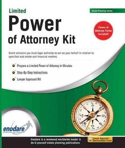 Limited Power Of Attorney Kit  Products    Book Outlet