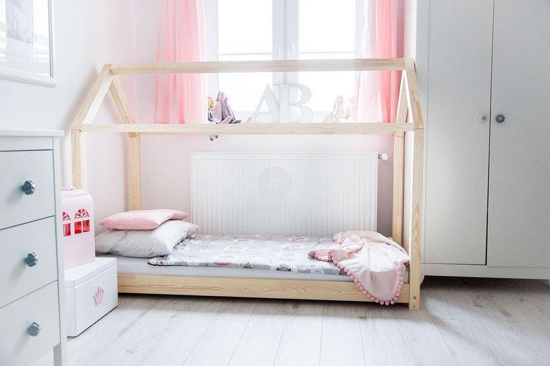 Kinderbetten Holzhaus Bett Für Kinder Talo D1 90x200 Ein