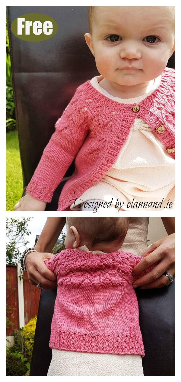 b067568aa 10+ Baby Lace Cardigan Free Knitting Patterns
