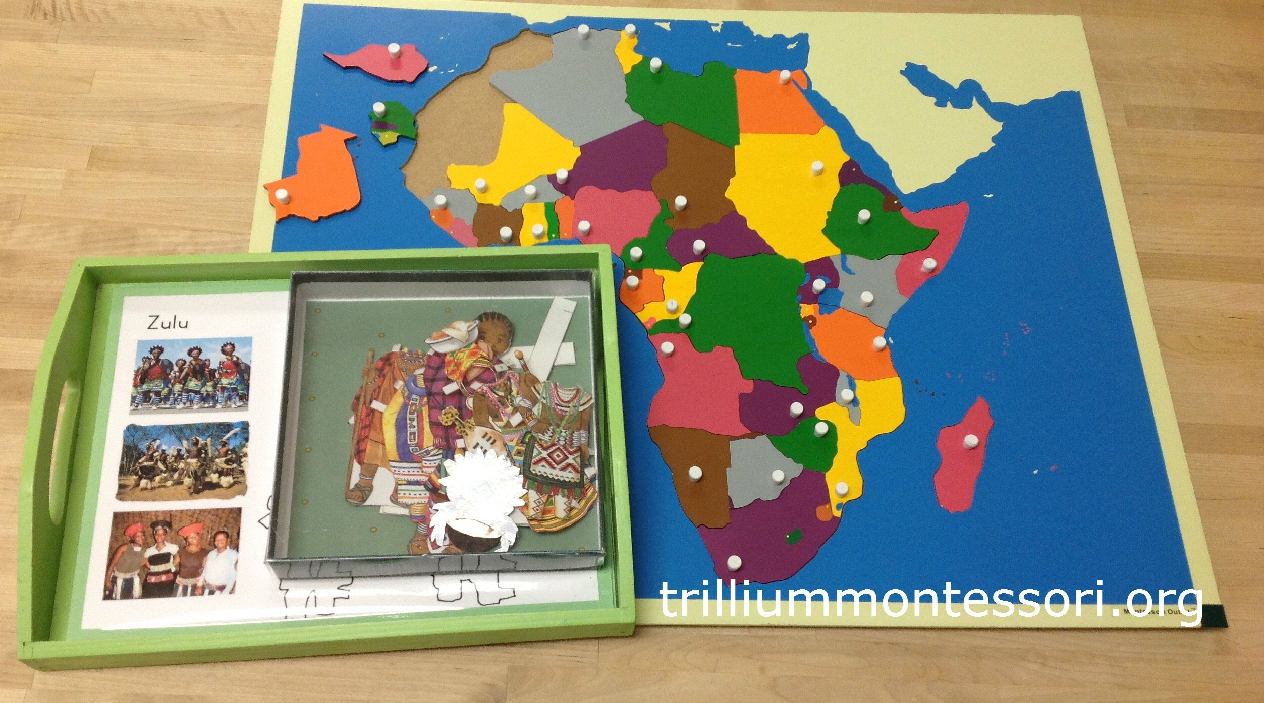 African Clothing Paper Dolls and Puzzle Map