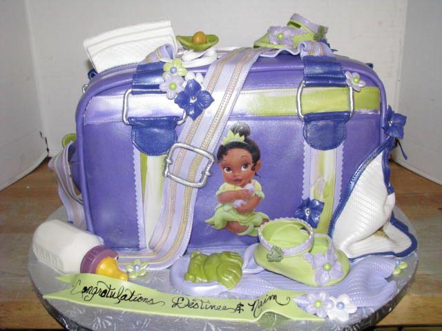 Princess Tiana Baby Shower Diaperbag Baby Shower Cakes Pinterest
