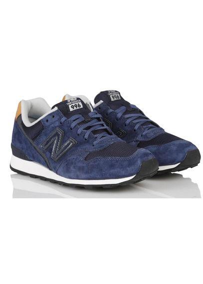 livraison gratuite 46a84 752eb Baskets New Balance 996 en cuir Bleu by NEW BALANCE   shoes ...