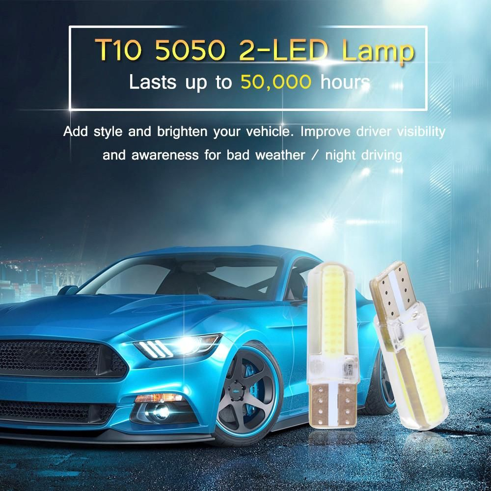 2pcs Car T10 W5w 168 194 3w 2 Led Width Light Reading Lights License Plate Lamp Side Marker Bulbs Cool White 12v Reading Light License Plate Led