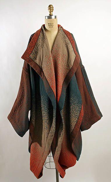 Coat, designer: Hiroko Koshino (Japanese, born 1937), ca. 1983  - wool/synthetic blend