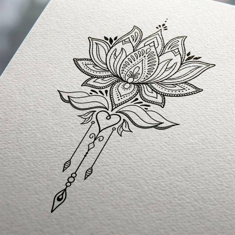 Fiore Di Loto Tattoo Disegno.Tattoo Mandala 100 Disenos Con Significado Disegno