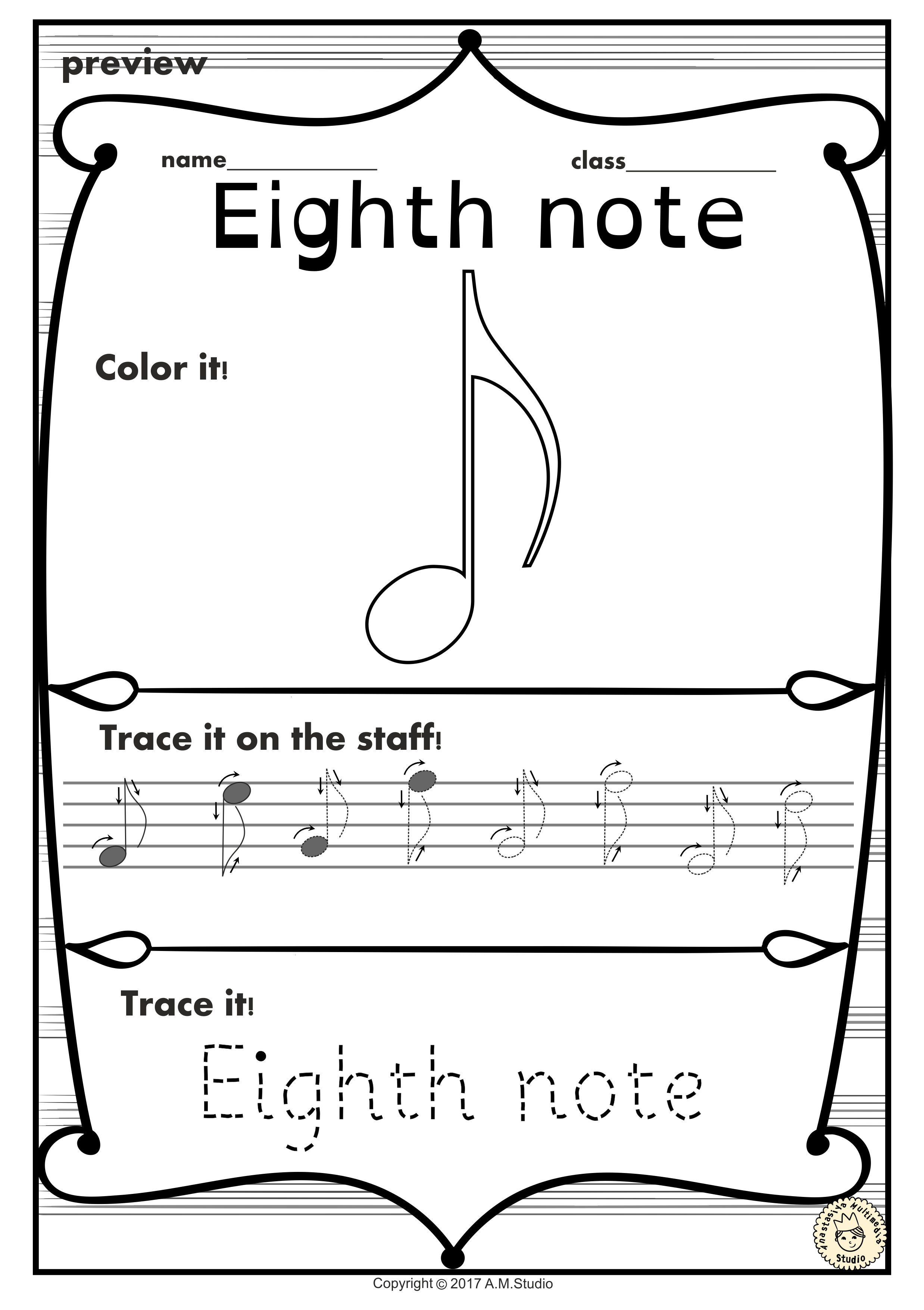 A Set Of 19 Music Worksheets Is Created To Help Your Students Learn Music Symbols Notes And