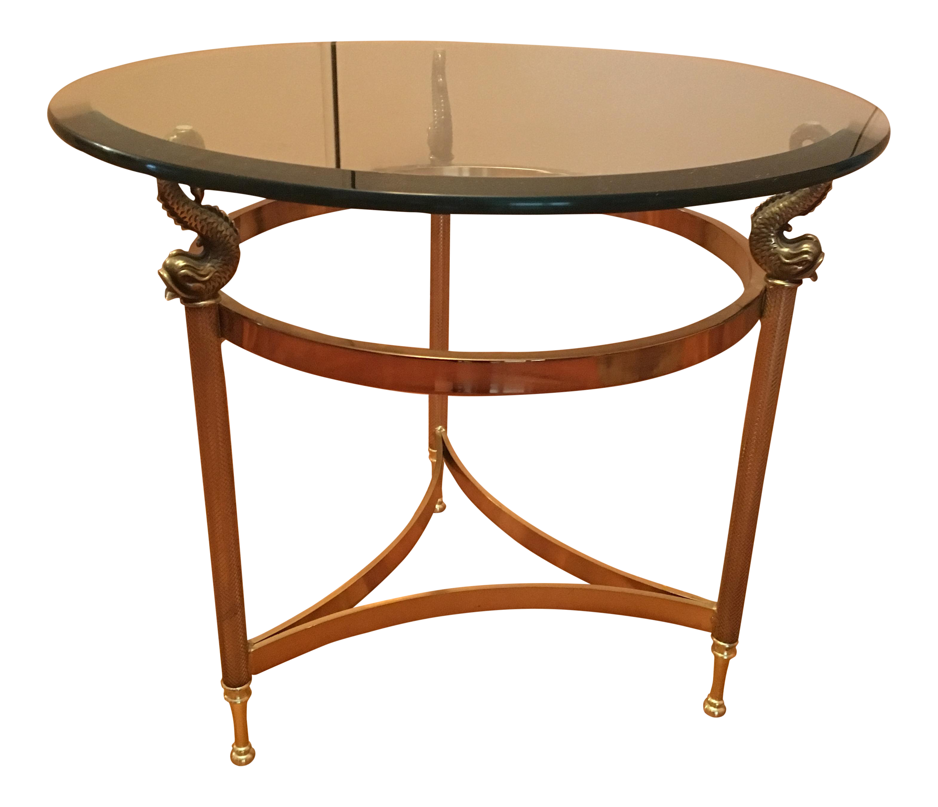 Modern wood side table  Round Solid Glass and Brass Side Table  Brass side table Rounding
