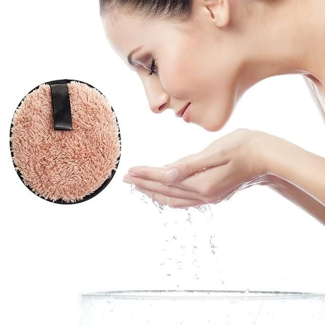 Face Cleansing Microfiber Cloth Makeup Remover Puff