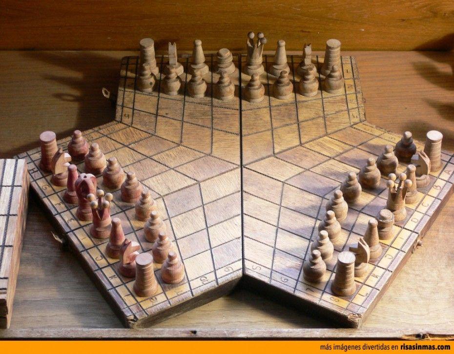 Ajedrez para tres jugadores Tableros de ajedrez, Piezas