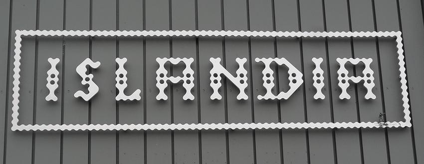 Enseigne magasin décoration Reykjavik, Islande.