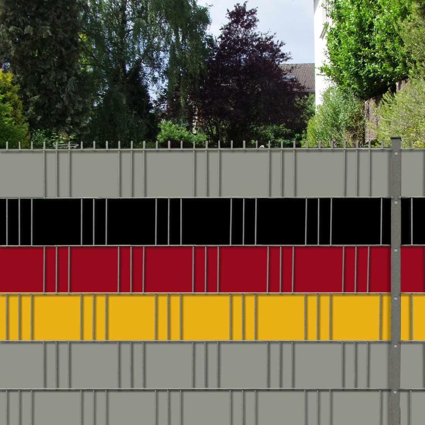 Sichtschutzstreifen Deutschland 1er Pack 3 Streifen Pvc